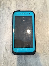 blue and black smartphone case