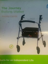 Brand new in box and plastic. Rolling walker