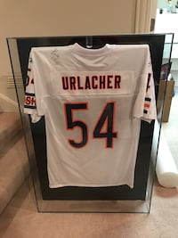 Brian Urlacher Signed Jersey with Framed case. Riverwoods, 60015