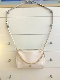 Coach bag, white crossbody