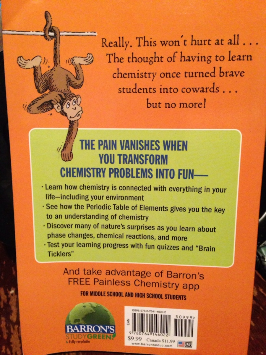 Used barrons painless chemistry book by loris chen in south kingstown more info urtaz Image collections