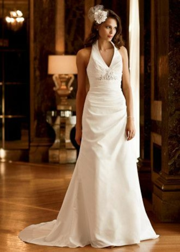 Used Brand new galina signature wedding dress size 0 for sale in ...