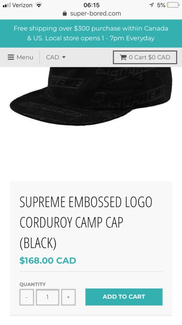 f6989379169 Used SUPREME EMBOSSED LOGO CORDUROY CAMP CAP (BLACK) for sale in Phoenix -  letgo