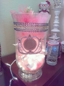 DIY Glam Glass Princess Lamp
