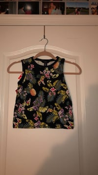 black and yellow floral tank top Bristow, 20136