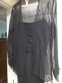 After Dark black full length silk dress size 6 Lubbock, 79423