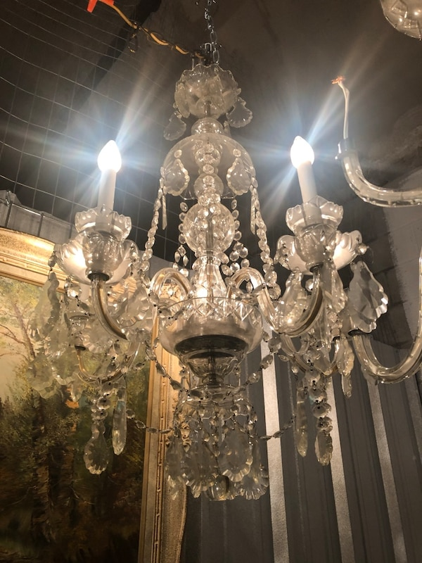 Antique bohemian chandelier with crystals