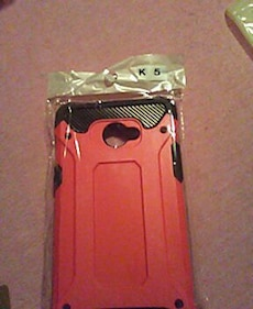 red and black smartphone case