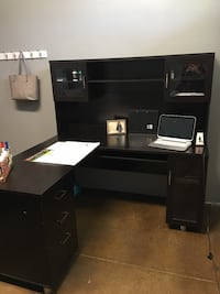 black wooden desk with hutch Bakersfield, 93312