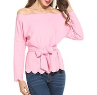 New Women's Off The Shoulder Scalloped  Long Sleeve  San Diego, 92127