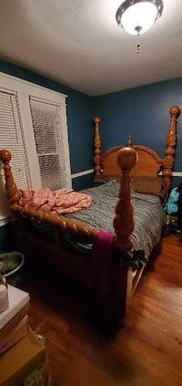 Queen Bed, Matress, Boxspring and Nightstand