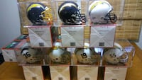 San Diego/LA Chargers Authentic Mini Helmets in display cases. Ashburn, 20147
