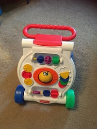 white, red, and green Fisher Price learning walker Falls Church, 22043