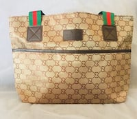 brown and black monogrammed Gucci leather tote bag Gaithersburg, 20879