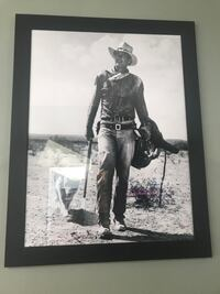 grayscale photo of man with black wooden frame Monroe, 06468
