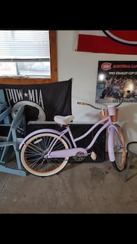 Huffy purple bike with basket. Bought 1 year ago only used a couple of times