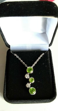 Genuine Peridot and Solid Sterling Silver!