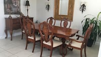 brown wooden dining table set West Palm Beach, 33411