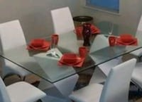 Glass dinning room table only