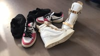 Paire de baskets montantes blanches et rouges Paris, 75001