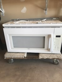 white Whirlpool microwave oven