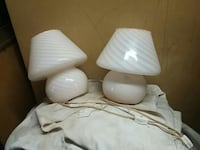 two white ceramic table lamps Montréal, H1Z 3N7