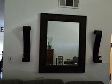 Big mirror and two sconces