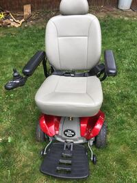 gray and red motorized wheelchair null
