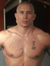 George st. pierre autographed life size cutout Whitby, L1N 9V4