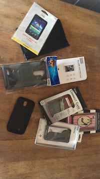 several assorted color phone cases