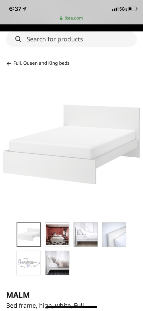 Photo Ikea White Bed Frame PICKUP ONLY CENTER CITY