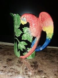 Vintage Parrot Pitcher  Youngstown, 44505
