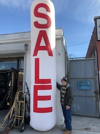 Extra large sale sign with blower New York, 11413