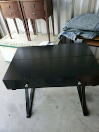 black wooden single pedestal desk Jamestown