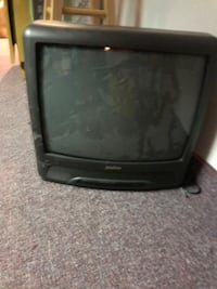 black CRT TV with remote Millville, 08332