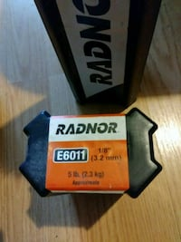 "Radnor Welding sticks E6011 1/8"". 5 lb  New Port Richey, 34653"