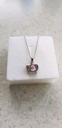 Sterling silver chain with birthstone