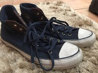 High top blue Converse size 10 Surrey, V4N 0V1