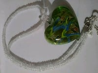 Green and gold heart necklace West Columbia, 29169