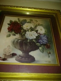 brown wooden framed painting of flowers Queens, 11435