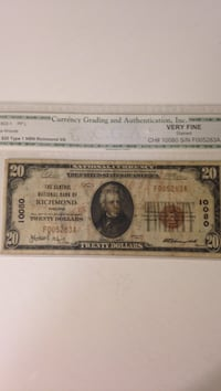 1929 $20 National Currency Winchester, 22602