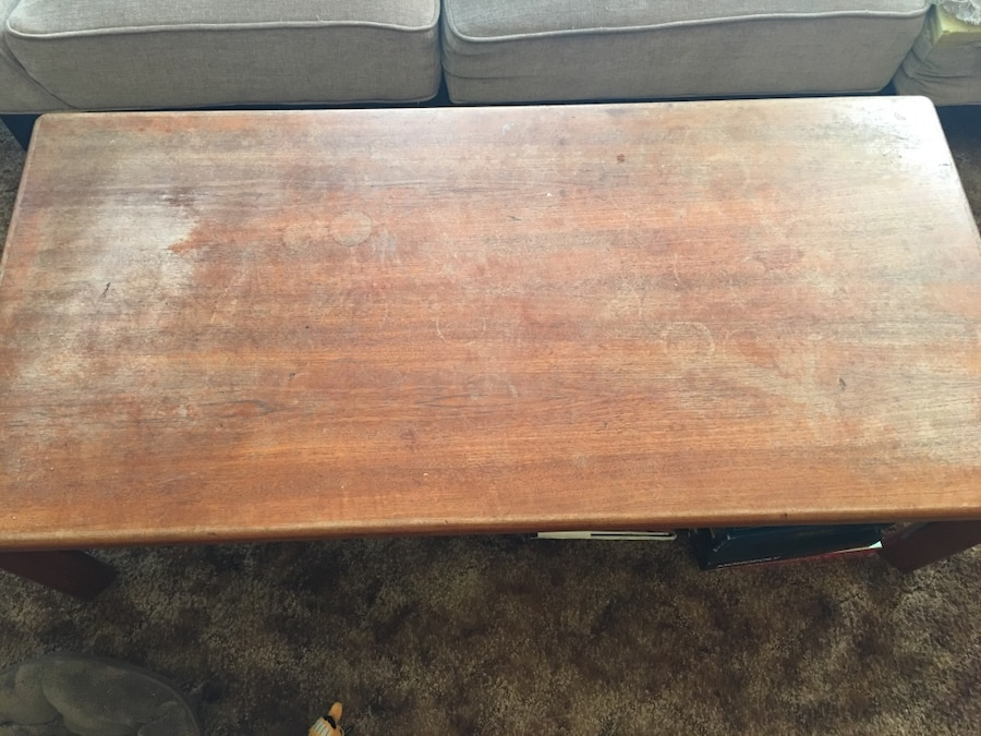 Wooden coffee table - Phillips Ranch