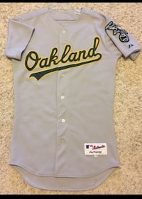 Majestic Size 40 (medium) Authentic A's Road Jersey Ripon, 95366