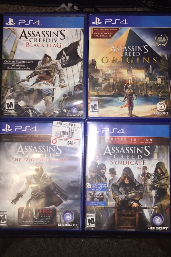 Used Assassins Creed Ps4 Games For Sale In Sevierville Letgo