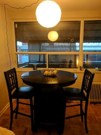 Dark Stain Martini Table with 2 Chairs Toronto, M4H 1K1