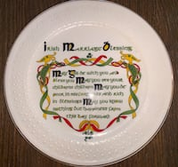 Donegal Parian Irish Marriage Blessing Plate 1139 Mc Lean, 22101