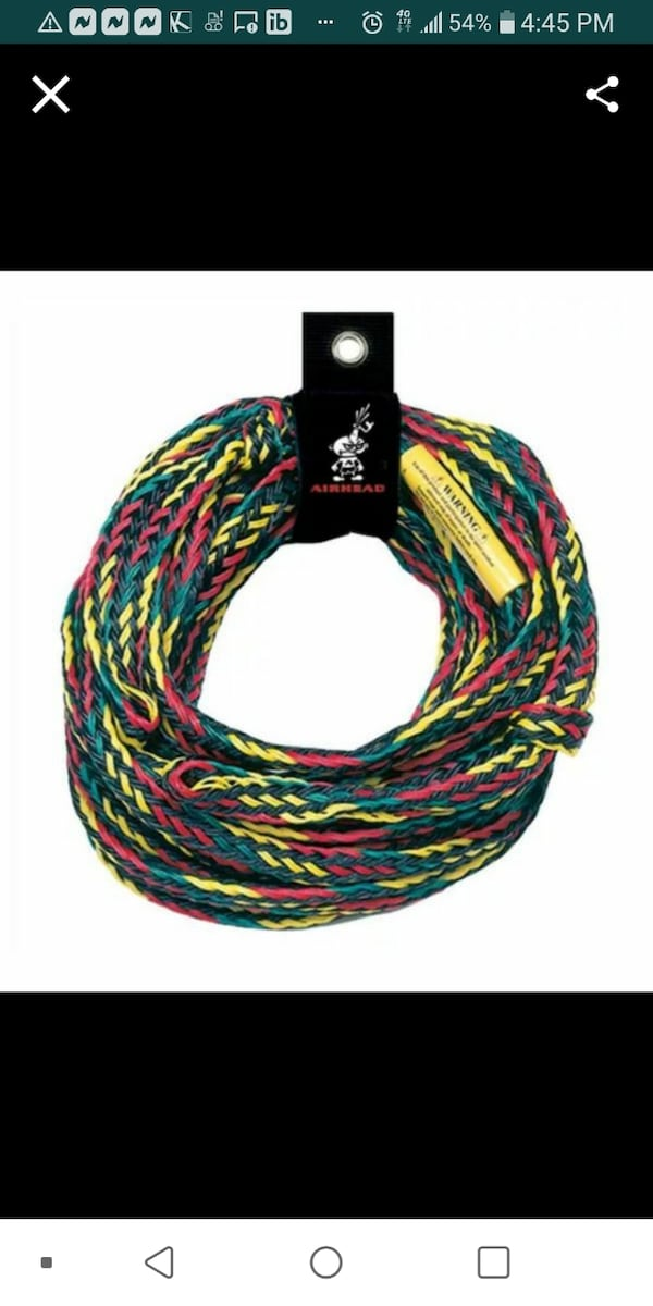 New Airhead Rope for tubes towables 1- 4 person capacity  9e7483b0-a858-41e9-b837-af9b34ee555c