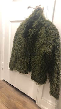 Green Faux Fur Light Jacket