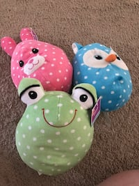 three assorted color animal plush toys Holtsville, 11742