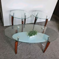 Glass Coffee Table and side Tables Edmonton, T5A 4A8